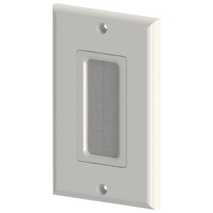 DataComm Electronics 45-0018-WH Decor Brush Plate