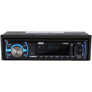 Pyle PLMRB29B Single-DIN In-Dash Digital Marine Stereo Receiver with Bluetooth (Black)
