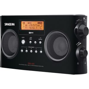 Sangean PR-D5-BK Digital Portable Stereo Receiver with AM/FM Radio (Black)