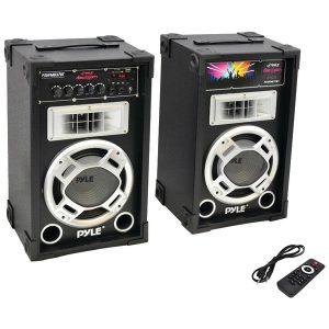 Pyle Pro PSUFM837BT 800-Watt Disco Jam Powered Active/Passive PA Bluetooth Dual Speaker System