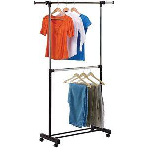 Honey-Can-Do GAR-01767 Dual-Rod Expandable Garment Rack