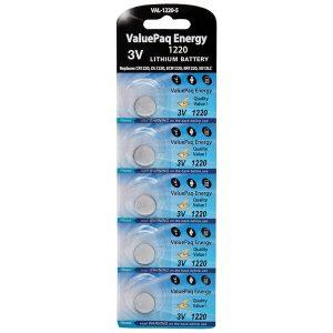 Dantona VAL-1220-5 ValuePaq Energy 1220 Lithium Coin Cell Batteries