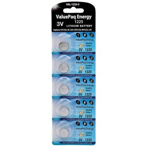 Dantona VAL-1225-5 ValuePaq Energy 1225 Lithium Coin Cell Batteries