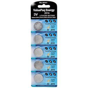 Dantona VAL-2016-5 ValuePaq Energy 2016 Lithium Coin Cell Batteries