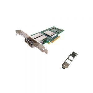 Dell QLogic 342-3548 SANblade 8GB Dual Port Fibre PCI-E QLE2562-DEL w/ Transceivers