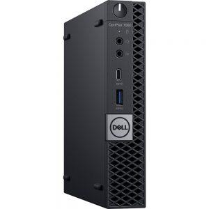 Dell W75N1 OptiPlex 7000 7060 Desktop Computer - Core i5 i5-8500T - 4 GB RAM - 500 GB HDD - Micro PC - Windows 10 Pro 64-bit - English Keyboard - Wireless LAN - Bluetooth