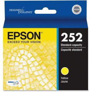 Epson DURABrite Ultra T252420 Ink Cartridge - Yellow - Inkjet - Standard Yield - 300 Pages - 1 Each