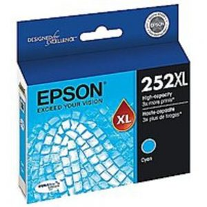 Epson T252220-S 252 DURABrite Ultra Ink Cartridge - 300 Pages - Cyan