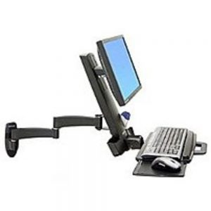 Ergotron 200 Series 45-230-200 Combo Arm for 24-inch Display Black