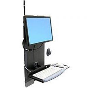 Ergotron StyleView 60-593-195 Monitor and Keyboard Mounting Kit for High Traffic Areas - Black