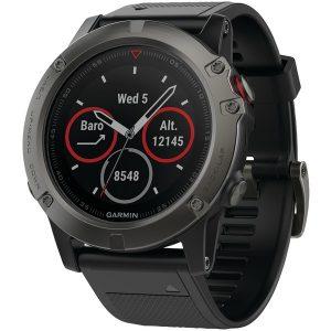 Garmin 010-01733-00 fenix 5X 51mm Multisport GPS Watch Sapphire Edition with Maps