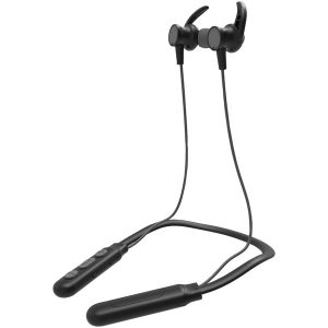 iEssentials IEN-BTEFX-GRY Flex Neck Band Sport Series Bluetooth Earbuds with Microphone (Gray)