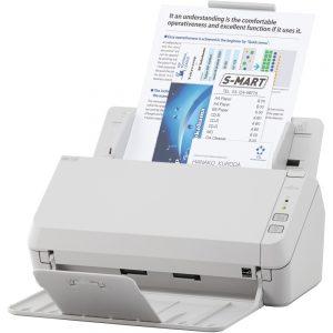 Fujitsu SP-1130 Sheetfed Scanner - 600 dpi Optical - 24-bit Color - 8-bit Grayscale - 30 ppm (Mono) - 30 ppm (Color) - Duplex Scanning - USB
