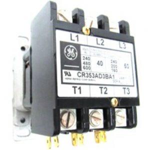 GE CR353AD3BA1 3-Pole 40 A 110/120 V AC Open Coil Contactor