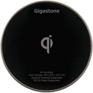 Gigastone GS-GA-9600B-R GA-9600 Qi-Certified Fast Wireless Charger (Black)
