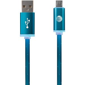 AT&T LMC03-BLU Charge & Sync Illuminated USB to Micro USB Cable