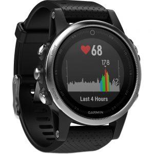 Garmin fenix 5S 010-01685-02 Multisport GPS Smartwatch - Black-Silver