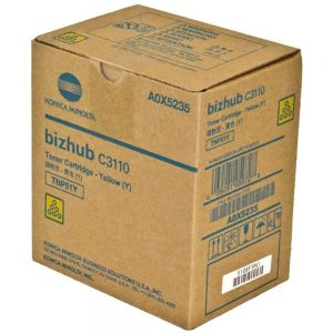 Genuine Konica Minolta A0X5235 TNP51Y Yellow Toner Cartridge For C3110