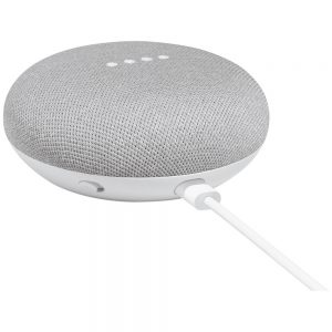 Google Home Mini Bluetooth Smart Speaker - Google Assistant Supported - Chalk - 360? Circle Sound - Wireless LAN - USB