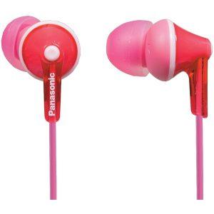 Panasonic RP-HJE125-P HJE125 ErgoFit In-Ear Earbuds (Pink)