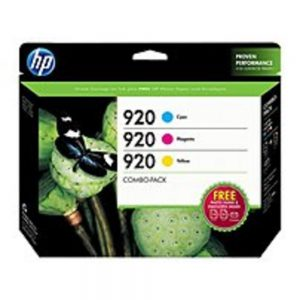 HP B3B30FN No 920 Inkjet Ink Cartridge for Officejet 6500 All-in-One Printer - 300 Pages - 3 Pack - Cyan
