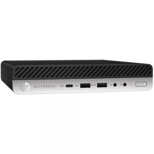 HP EliteDesk 705 G4 5TH35US Desktop PC - AMD Ryzen 5 Pro 2400 G 3.6 GHz Quad-Core Processor - 8 GB DDR4 SDRAM - 128 GB Solid State Drive - Windows 10 Professional 64-bit Edition