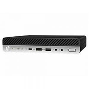 HP EliteDesk 800 6GX70US Desktop Mini PC - Gen 4 - Intel Core i5-8500 - 3.0 GHz - 8GB-RAM - 256 GB Solid Drive - 64-bit - Windows 10 Home
