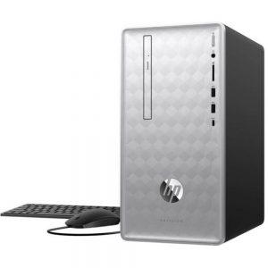 HP Pavilion 3LB80AA 590-p0076 Desktop PC - AMD Ryzen 5 2400G 3.6 GHz Quad-Core Processor - 8 GB DDR4 SDRAM - 1 TB Hard Drive - Windows 10 Home 64-bit - Silver