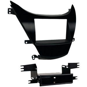Metra 99-7346B Double-DIN/ISO-DIN with Pocket Installation Kit for 2011 through 2013 Hyundai Elantra