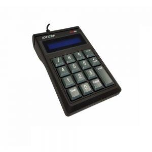 ID Tech Encrypted Key Pad With MagStripe Reader USB Black IDSK-534833AEB-S1