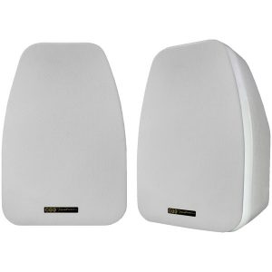 BIC America ADATTO DV52SIW 125-Watt 2-Way 5.25-Inch Indoor/Outdoor Speakers with Keyholes for Versatile Mounting (White)
