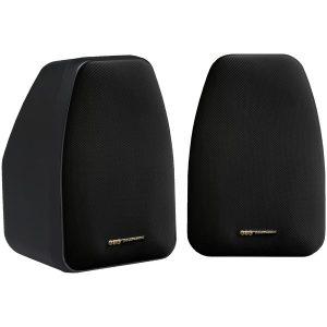 BIC America ADATTO DV52SI 125-Watt 2-Way 5.25-Inch Indoor/Outdoor Speakers with Keyholes for Versatile Mounting (Black)