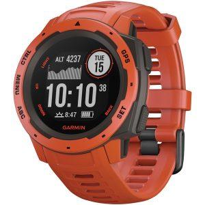Garmin 010-02064-02 Instinct GPS Watch (Flame Red)