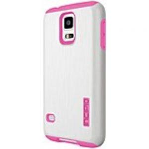 Incipio DualPro SHINE Case for Samsung Galaxy S5 - White/Pink - SA-528-WHT - Dual Protection - Aluminum Finish - Plextonium