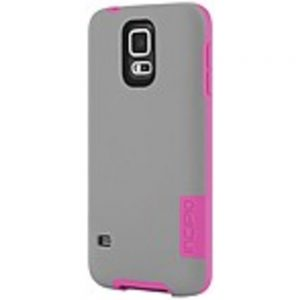 Incipio OVRMLD Case for Samsung Galaxy S5 - Gray/Pink - SA-531-GRY - Flexible Hard-Shell - Plextonium