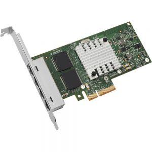 Intel(R) E1G44HT I340-T4 Ethernet Server Adapter - PCI Express - 4 Port - 10/100/1000Base-T - Internal - Low-profile