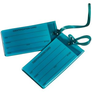 Travel Smart TS03TEAL6 Jelly Luggage Tags