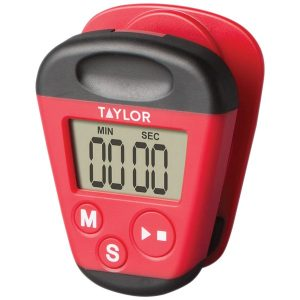 Taylor Precision Products 5875 Kitchen Clip Timer with Extra-Strong Magnet