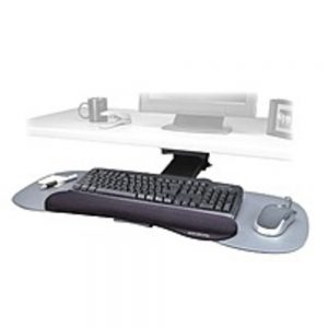 Kensington K60066US Expandable Keyboard Platform for Multiple Users with SmartFit System and Wrist Rest - Gray