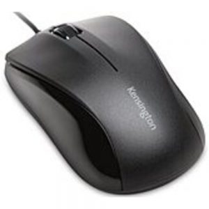 Kensington K74531WW Mouse for Life USB Three-Button Mouse - Optical - Cable - Black - 1 Pack - USB - 1000 dpi - Scroll Wheel - 3 Button(s) - Symmetrical