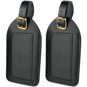 Travel Smart P2010X Leather Luggage Tags