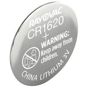 RAYOVAC KECR1620-1C 3-Volt Lithium Keyless Entry Battery (1 pk; CR1620 Size)
