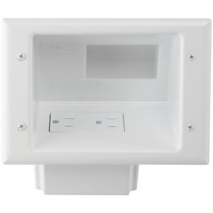 DataComm Electronics 45-0071-WH Recessed Low-Voltage Mid-Size Plate