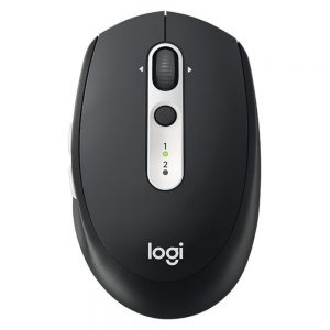 Logitech M585 Multi-Device Multi-Tasking Mouse - Optical - Wireless - Bluetooth/Radio Frequency - Graphite - USB - 1000 dpi - Tilt Wheel - 5 Button(s)