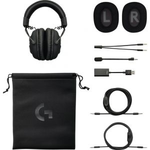 Logitech PRO X Gaming Headset with Blue Vo!ce - Stereo - Mini-phone - Wired - 35 Ohm - 20 Hz - 20 kHz - Over-the-head - Binaural - Circumaural - Electret