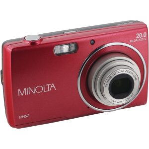 Minolta MN5Z-R 20.0-Megapixel MN5Z HD Digital Camera with 5x Zoom (Red)