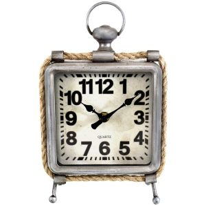 Westclox 91085 Metal and Rope Table Clock