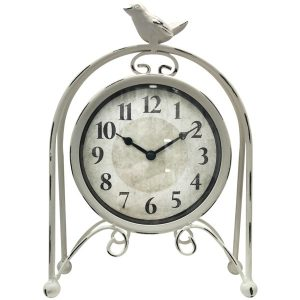 Westclox 91091 Metal Bird Table Clock