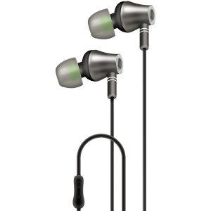 AT&T E10-BLK E10 Metallic In-Ear Stereo Earbuds with Microphone (Black)