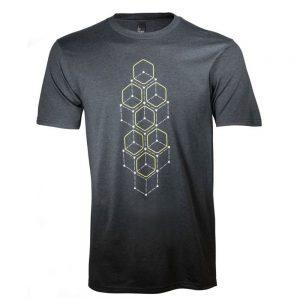 Mobile Edge AWSSDL Alienware Dot Hex Short Sleeve T-Shirt - Large - Black Frost